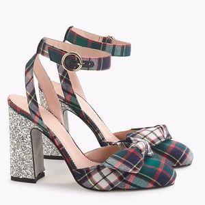 NIB J.CREW Ankle-Strap Pumps Glitter Heel